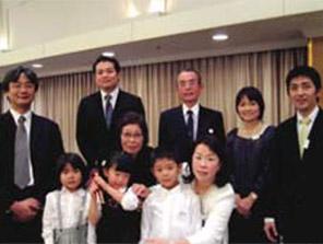 家族とクリスマス会を開いたときの写真
